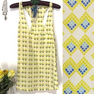 Joie 100% silk yellow patterned tank top